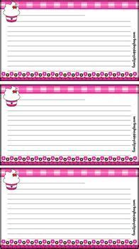cupcake recipe card template free printable cookbook mesa s place page