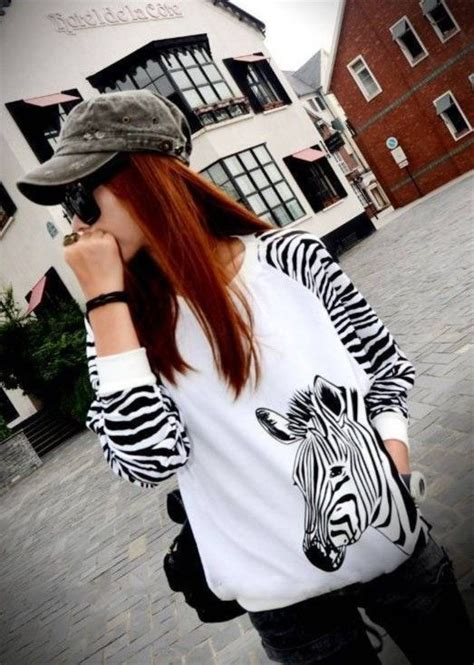Fashion Zebra Stripes 8059 17 best images about zebra stripe printed pullover sweater on mink stripe print and
