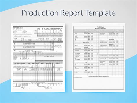 Production Report Template Daily Production Report Template Sheets Free