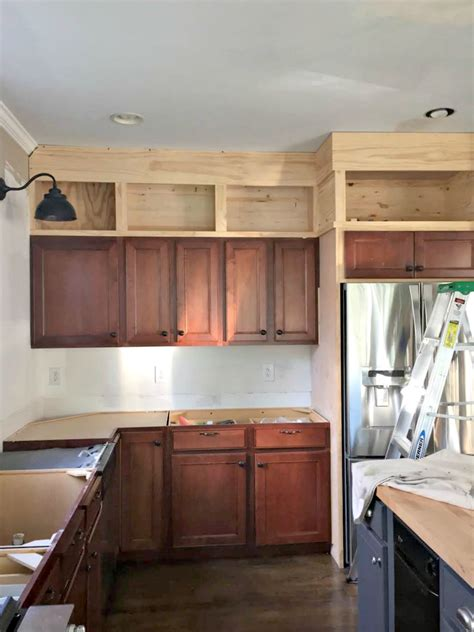 building kitchen cabinets building cabinets up to the ceiling from thrifty decor chick