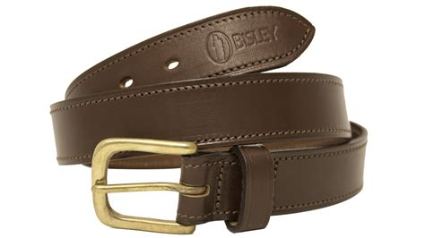 stitched leather belt by bisley