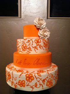 1000 ideas about orange wedding cakes on