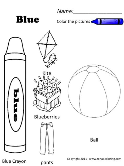 Blue Coloring Page