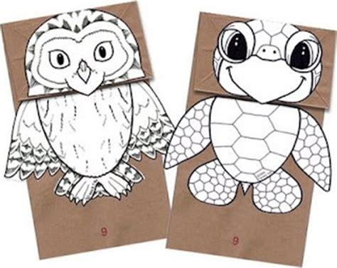 puppet paper free printable craft kids entertain book