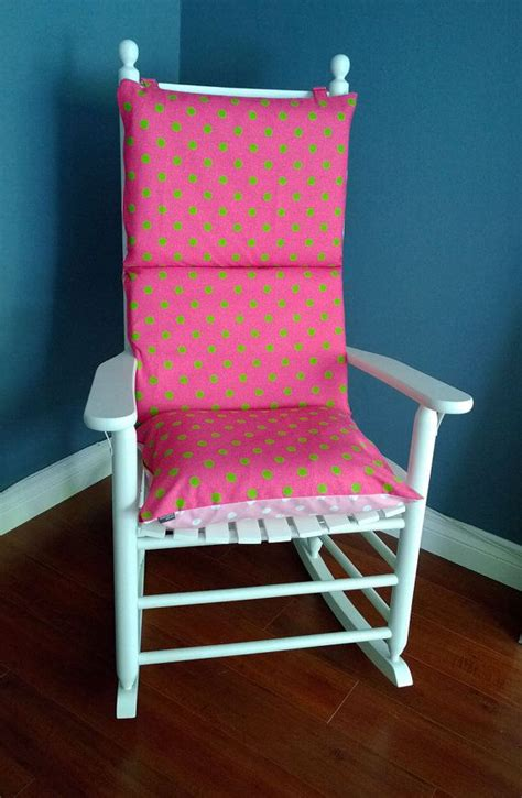 Nursery Rocking Chair Cushions Rocking Chair Cushion Pink Lime Polka Dot