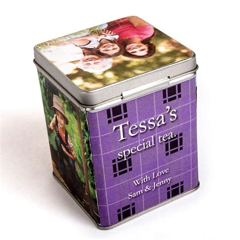 Tea Caddy L by Personalised Tea Caddy Design Your Own Tea Caddy Gifts