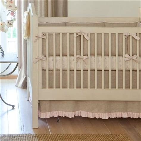 light pink crib skirt light pink linen crib skirt straight carousel designs
