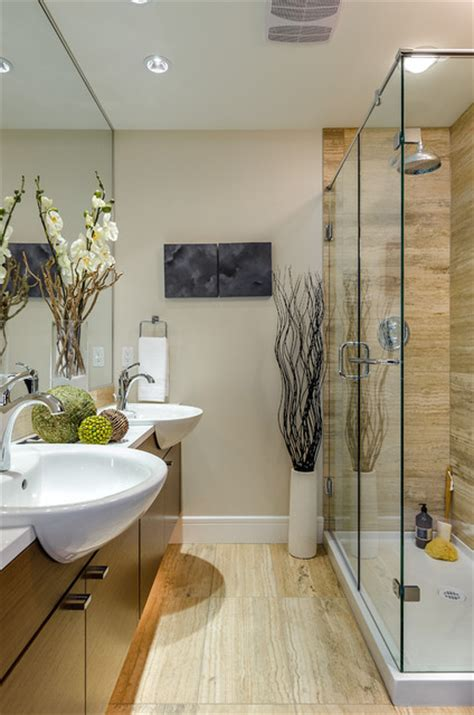 google bathrooms wood on the floor brownstone contemporary bathroom other metro by martin design