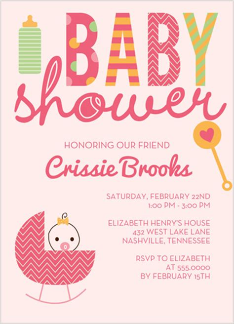 Shutterfly Baby Shower Invitations by Shutterfly Baby Shower Stroller Pink Omg Photos