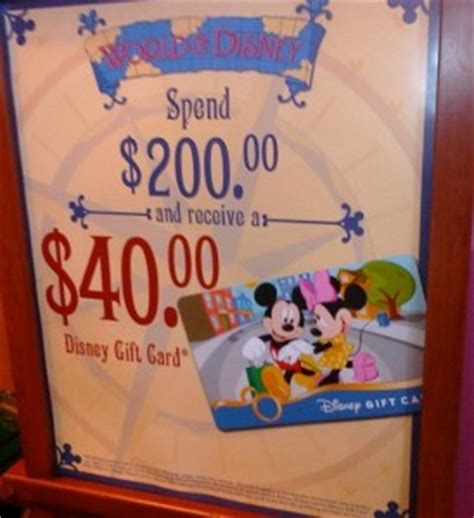 Downtown Disney Gift Card - free disney gift card with world of disney purchase cash in your gift cards