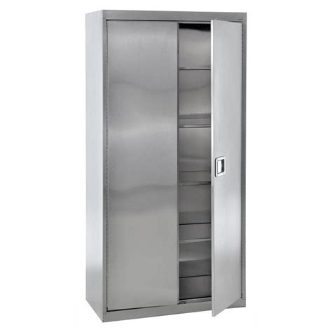 metal kitchen storage cabinets sandusky lee sa4d361872 stainless steel storage cabinet