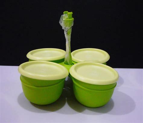 condimate set hijau one nur tupperware item katalog julai ogos 2013