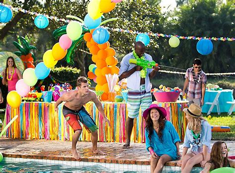 Decorate Home For Birthday Party by Summer Pool Party Ideas Summer Party Ideas Theme Party