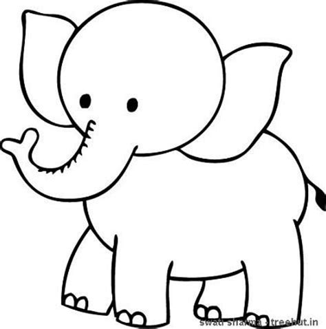 Baby Elephant Coloring Pages Animal Elephant Colouring Page