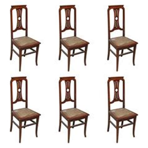 Masonic Chairs For Sale by Set Of Three Ornate Black Leather And Wood Masonic Chairs