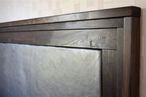 Leather And Wood Headboard by Diy Upholstered Leather Headboard The Handyman S