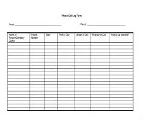 phone log template doc 585550 phone log template call log template 4 free