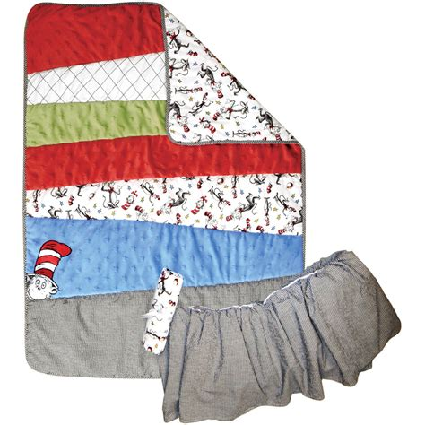 Dr Seuss Baby Crib Bedding Set by Trend Lab Dr Seuss The Cat In The Hat 3 Pc Crib Bedding