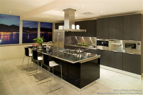Home Remodeling Design Kitchen Ideas Dark Cabinets Stainless Steel Kitchen Designs