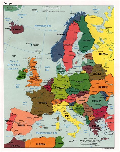 Map Of West Europe by Interopp Org Political Map Of Western Europe Large 1998