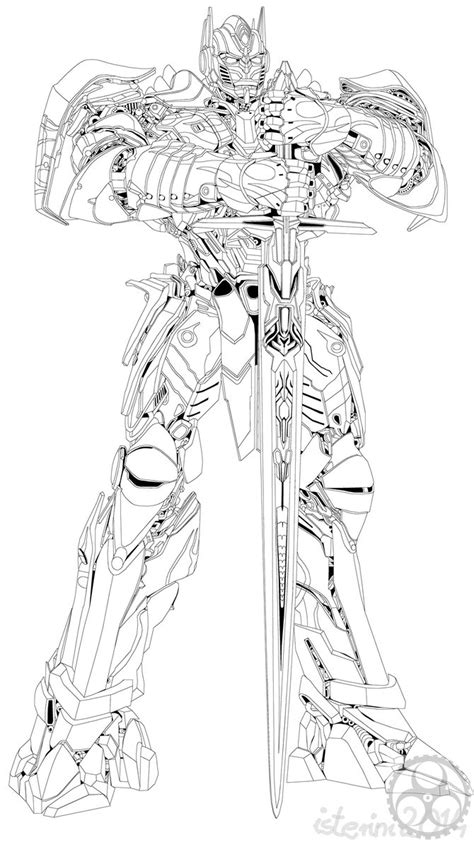 transformers 4 optimus prime coloring coloring pages