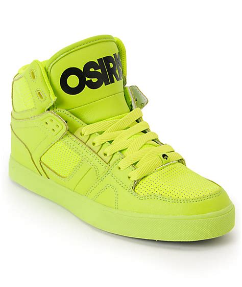 osiris shoes high tops osiris nyc 83 vulc lime green high top shoes at zumiez pdp