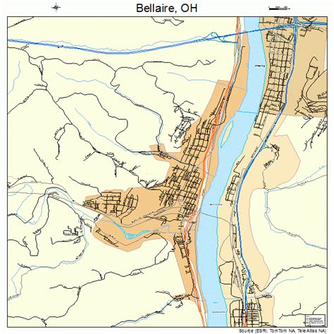 bellaire map bellaire oh pictures posters news and on your