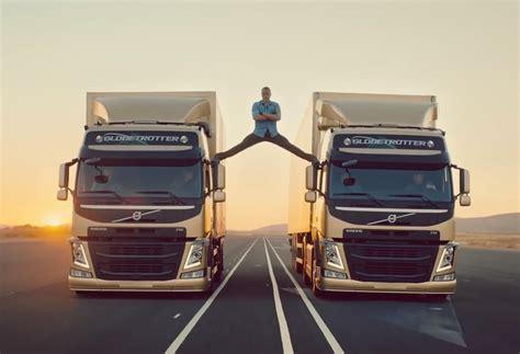 van damme performs epic split  latest volvo trucks ad performancedrive