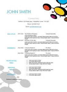 editable resume templates free printable resume templates