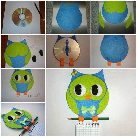Owl Home Decor Accessories by Wonderful Diy Cute Hanging Owl Notebook From Cd