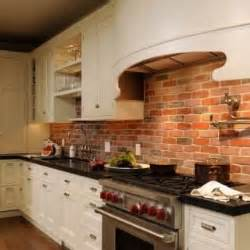 exposed brick kitchen backsplash kitchens