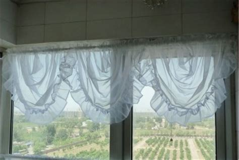 half circle curtain one piece of white sheer half round valance curtain ruffle