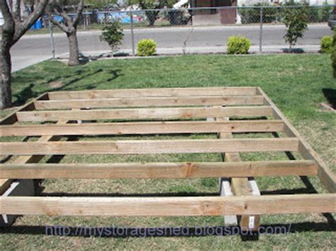 Building Shed On Skids by How To Build A Storage Shed Step 1 Building The Storage Shed Foundation