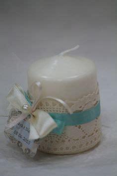 bomboniera candela bomboniera matrimonio sacchetto pois con cuore di latta e