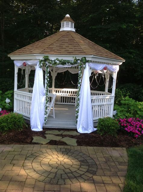 gazebo decorations best 25 wedding gazebo ideas on outdoor