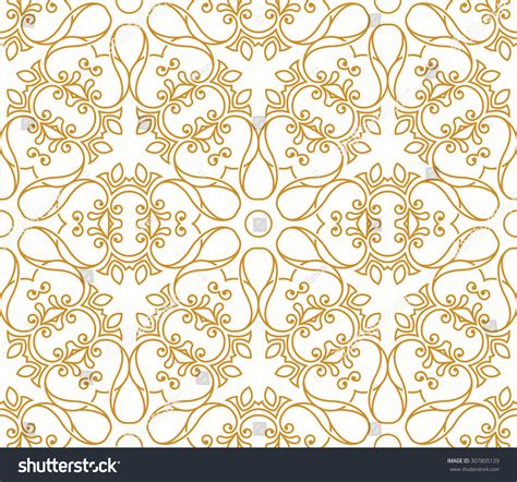 gold arabic pattern seamless background in arabic style gold patterns in