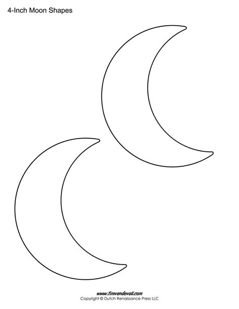 printable template blank moon templates printable moon shapes