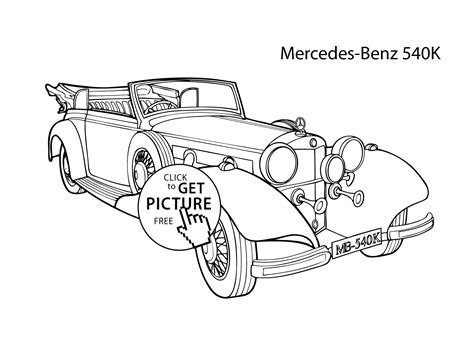 free coloring pages of cool cars super car mercedes benz 540k coloring page cool car