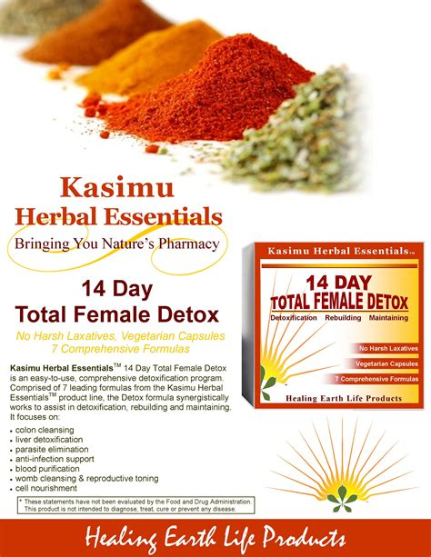 Fda Approved Detox by 14 Day Total Detox Healing Earth Products