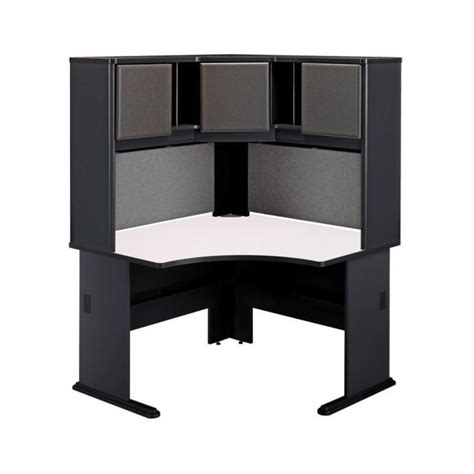 48 Desk With Hutch Series A 48 Quot Corner Computer Desk With Hutch In Slate Wc8427a Pkg4