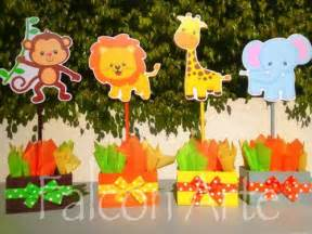 jungle safari baby shower or birthday centerpieces for