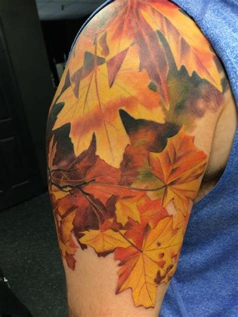 fall leaves tattoo wade rogers tattoonow