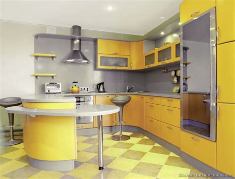 pictures of modern yellow kitchens gallery design ideas - Yellow Kitchen Pictures