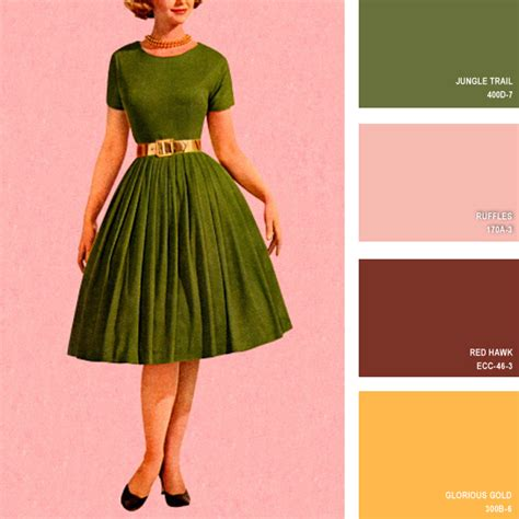 retro colors 1950s 1950s 16 beautiful color palettes inspired by retro