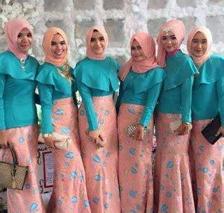 Kain Brokat Warna Ijo foto baju muslim kebaya modern kombinasi brokat untuk