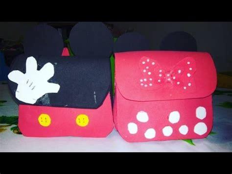 como hacer un dulcero de de mochila monster mochila dulcero de minnie mouse y mickey mouse youtube