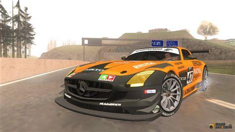 Mercedes Sls Gt3 by Mercedes Sls Amg Gt3 Pj4 For Gta San Andreas