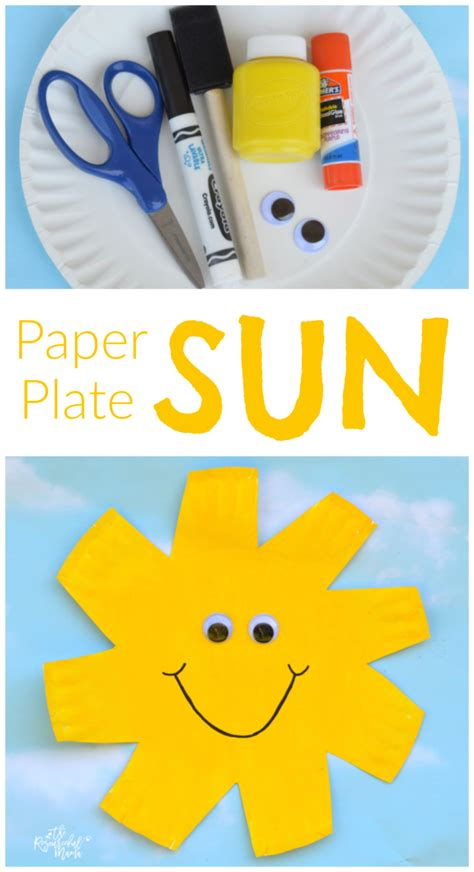 Sun Paper Plate Craft - paper plate sun craft the resourceful
