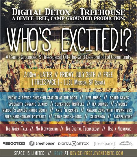 Digital Detox Reddit by Who S Excited A Device Free Celebration In San Francisco