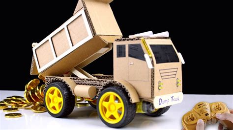 7 Ideas On How To Dump A Nicely by How To Make Rc Dump Truck From Cardboard Mr H2 Diy
